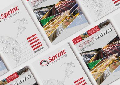 Sprint - projektowanie graficzne, druk materialow
